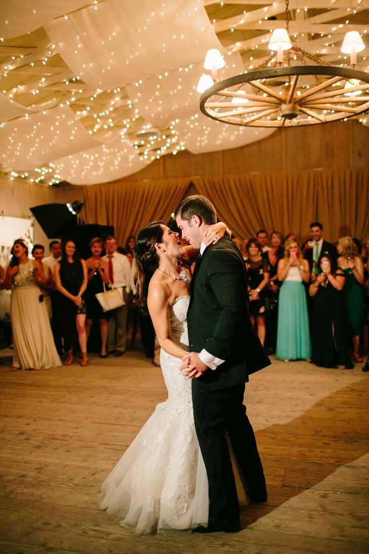 "The bride and groom began dating shortly after spending an entire night dancing to ""Time of My Life"" so the song was incorporated into their First Dance, right after Ben E King's ""Stand By Me"". As an additional surprise, they mimicked a majority of the songs choreography from the movie Dirty Dancing."