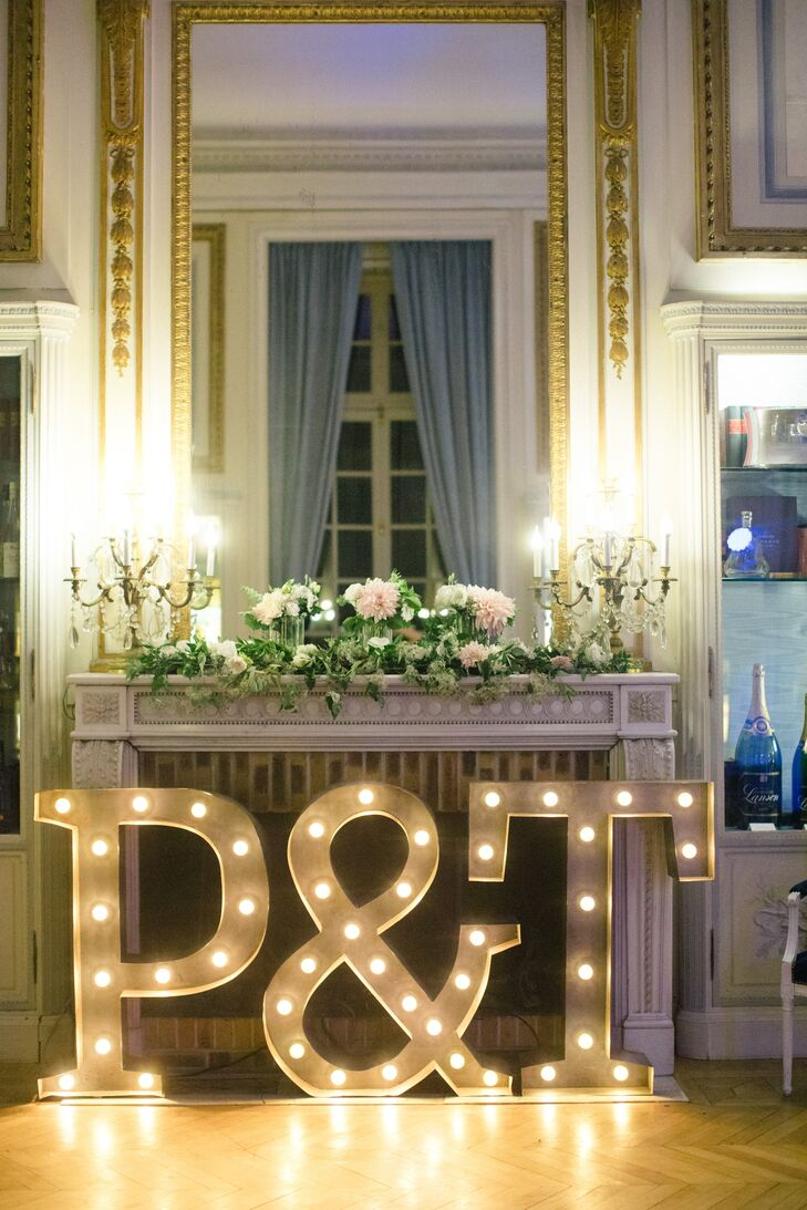 Oversize Initial Marquee Lights
