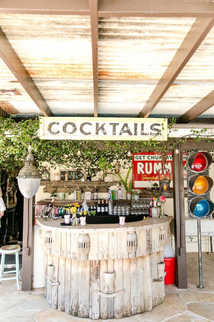 Vintage-Inspired Cocktail Bar