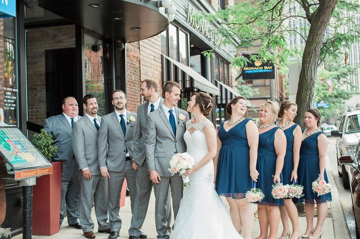 Silver Wedding Party Dresses