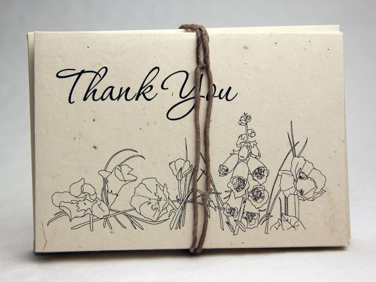 earthy seed paper wedding thank-you cards