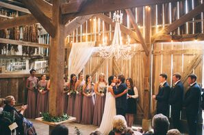 Romantic Barn Wedding Ceremony
