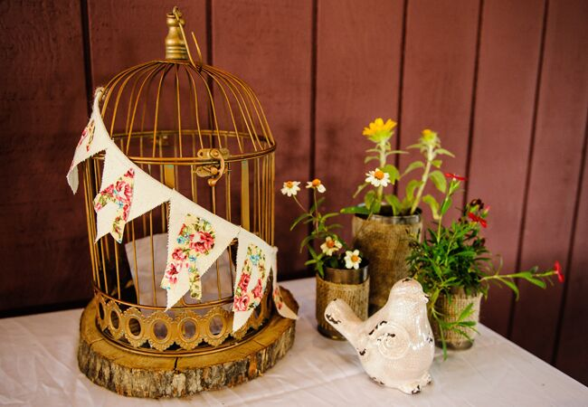 birdcage wedding envelope box