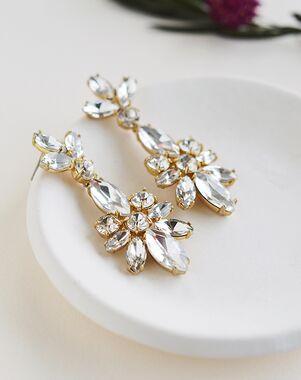 Dareth Colburn Elita Crystal Statement Earrings (JE-4185) Wedding Earring photo