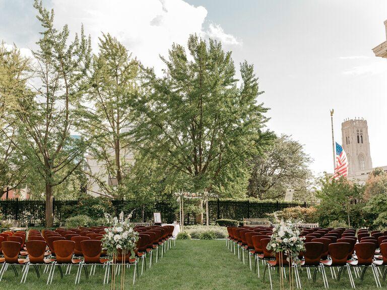 Library wedding venue in Indianapolis, Indiana.