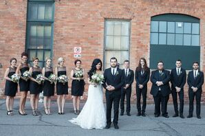 Black Knee-Length Vera Wang Bridesmaid Dresses