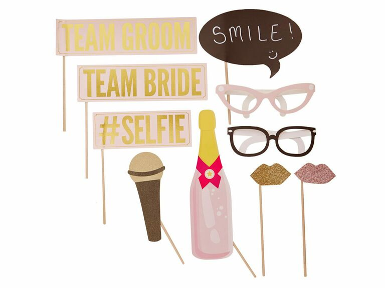 Team Bride and Team Groom wedding photo booth signs