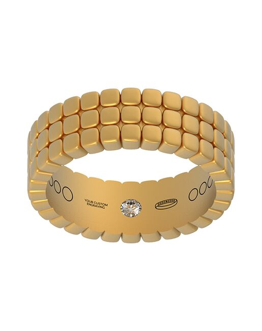 Everband 6 mm Tri Piazza with Matte Gold, Rose Gold, White Gold, Platinum Wedding Ring