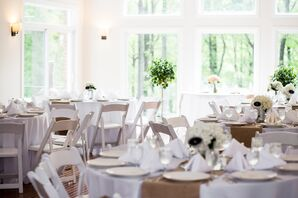 Simple White Reception Dining Tabeles