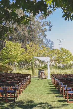 Outdoor Ceremony with Chuppah