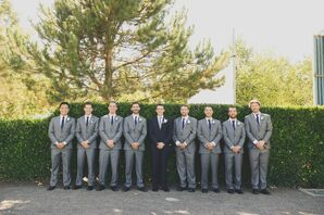 Grey Tailored Groomsmen Suits