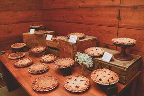 Wedding Pie Dessert Display