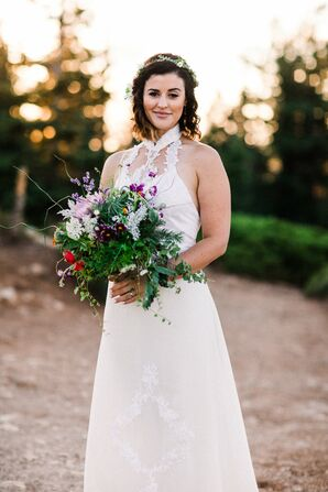 Textured Greenery and Wildflower Bouquets