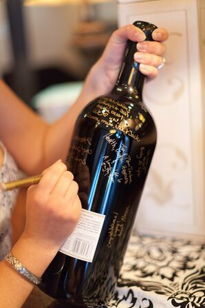 Wine Bottle Guest Book