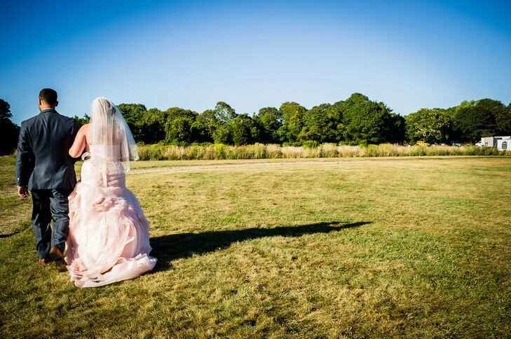 Bride and Groom Farm Wedding Recessional