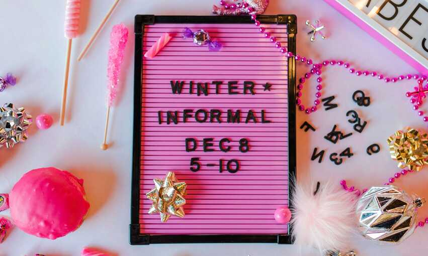 Winter Informal party themed inspiration and ideas