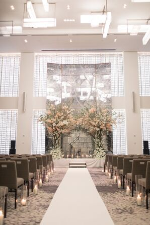 Hotel Ceremony with Chuppah Made of Branches