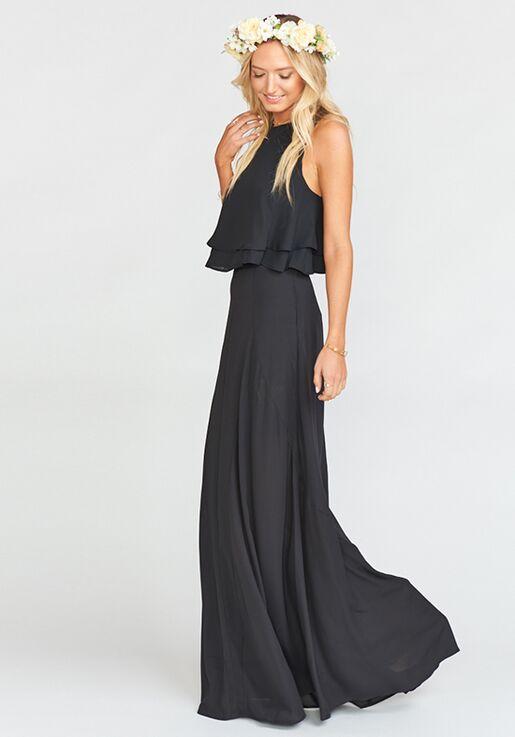 40c75ec631bd6 Show Me Your Mumu King Crop Top - Black Crisp Bridesmaid Dress - The ...