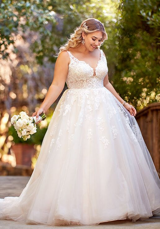 Essense of Australia D2587+ A-Line Wedding Dress