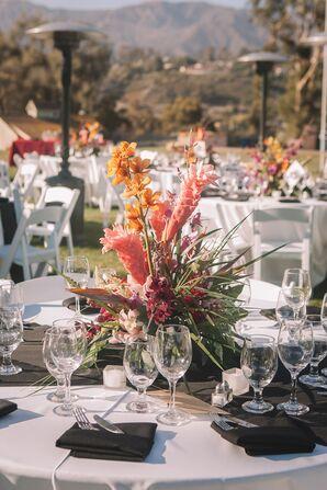 Pink and Orange Tropical Flower Arrangement