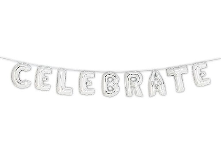 Celebrate party balloons for 25th anniversary