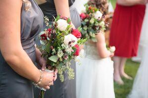Lush Garden Rose Bridesmaid Bouquets