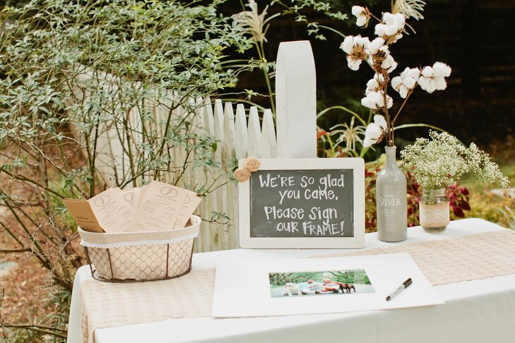 Chalkboard and Wooden Table Accents