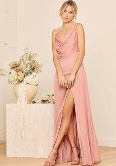 Lulus Until Then Dusty Pink Cowl Neck Maxi Dress Bridesmaid Dress