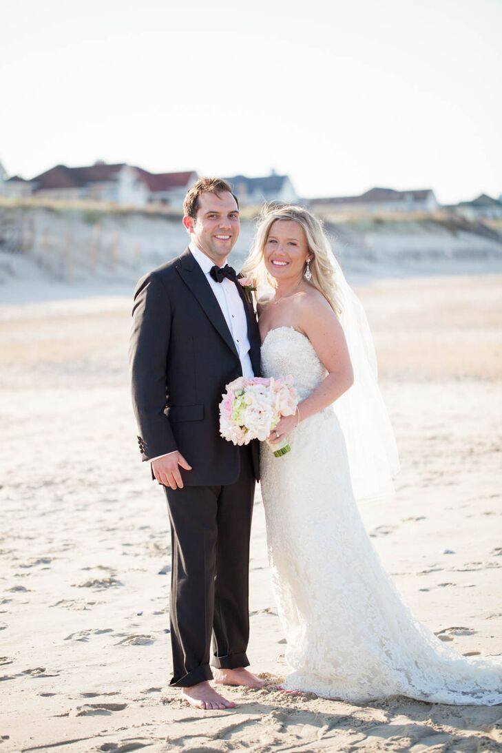 Talk about a formal seaside affair! Ryan Hart (29 and a lawyer) and Brian O'Neill (29 and a lawyer) wanted their wedding to comb
