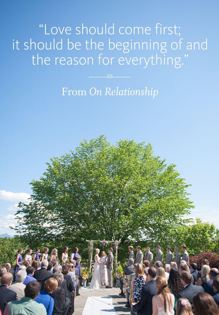 On Relationship wedding ceremony reading