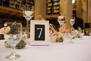 Ivory Framed Chalkboard Table Numbers
