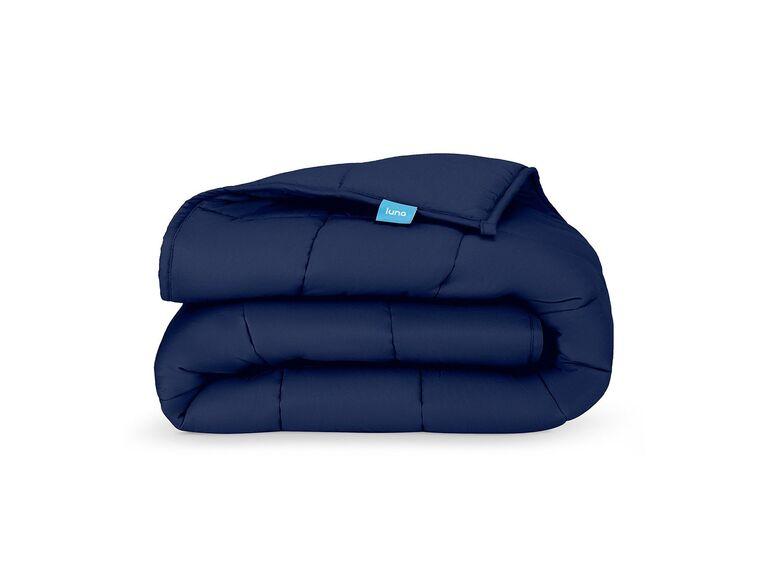 Navy blue weighted blanket Valentine's gift idea