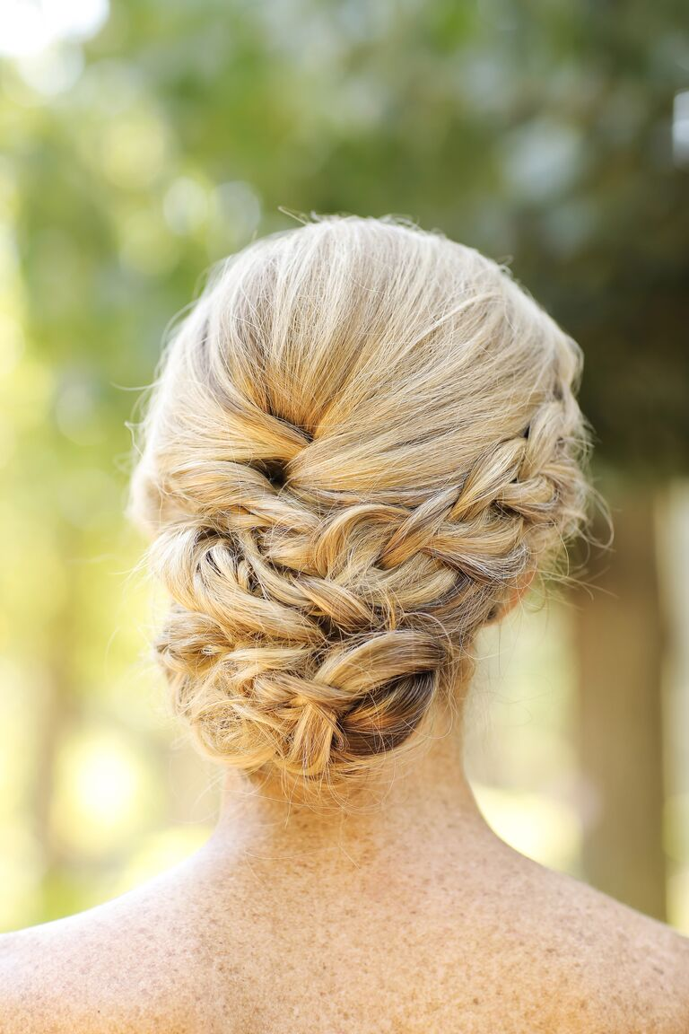 An elegant braided chignon looks good from any angle