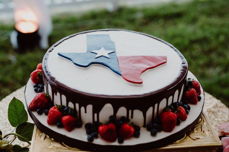 Texas-Themed Groom's Cake