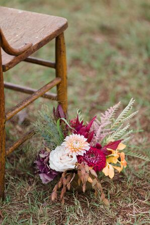 Wildflower-Inspired Fall Floral Aisle Decoration