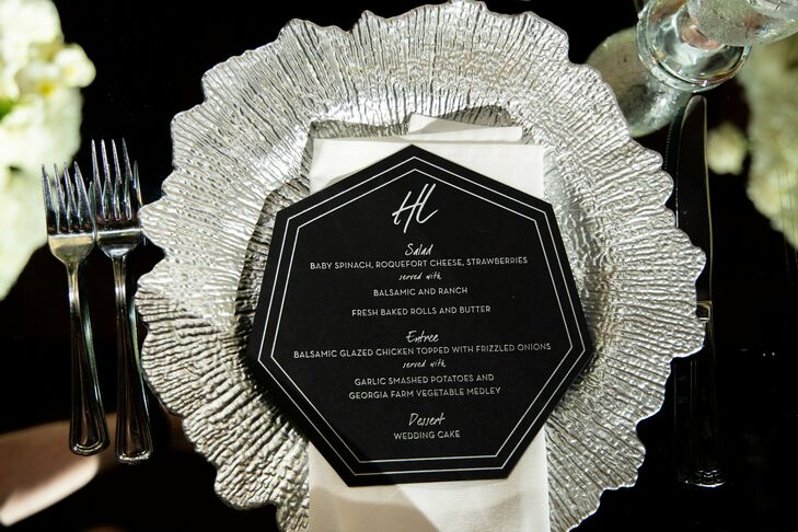 Black-and-Silver Place Setting at the Georgia Freight Depot in Atlanta