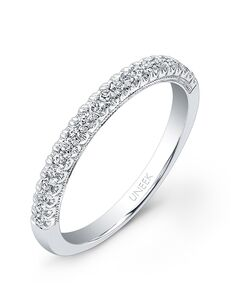 Uneek Fine Jewelry UWB017 White Gold Wedding Ring