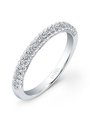 Uneek Fine Jewelry UWB017 White Gold Wedding Ring