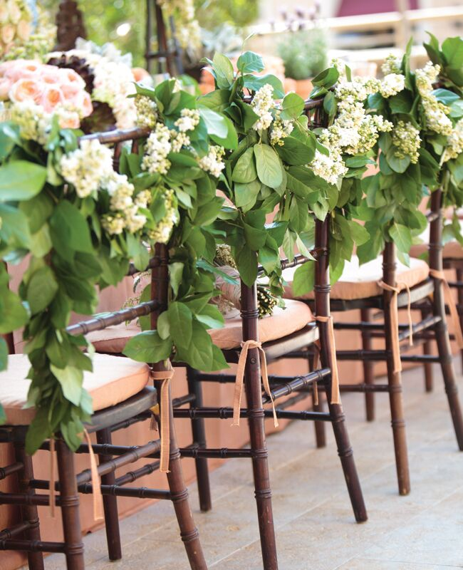 15 Outdoor Wedding Ideas That Are Totally Genius: 13 Genius Places To Hang A Wedding Garland