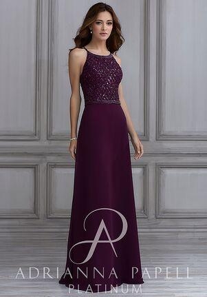 Adrianna Papell Platinum 40124 Halter Bridesmaid Dress