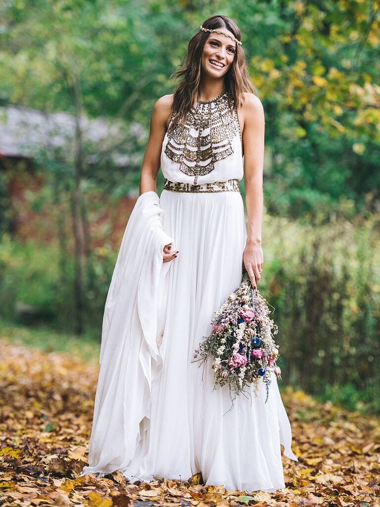 Vintage 70s Style Wedding Dress By Amanda Wakeley