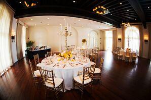 Elegant and Simple Casa Marina Reception Decor