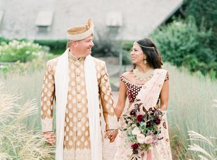 Indrani	Franchini and Dennis Heidt planned a colorful, bohemian-inspired, Indian fusion wedding at Blue Hill Farm at Stone Barns. The color palette wa