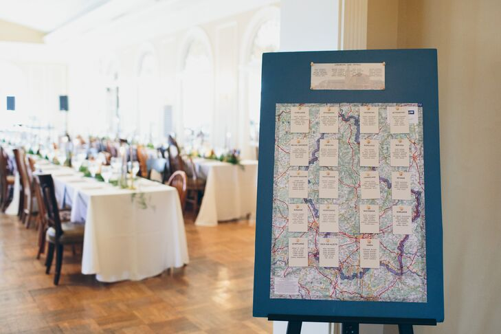 Travel-Themed Seating Chart Display