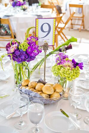 Green and Purple Centerpieces