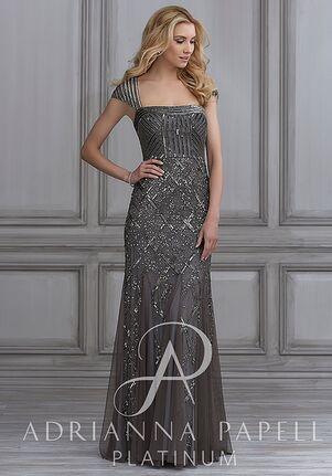 Adrianna Papell Platinum 41013 Square Bridesmaid Dress