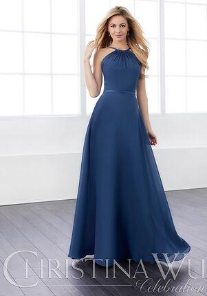 Christina Wu 22824 Halter Bridesmaid Dress