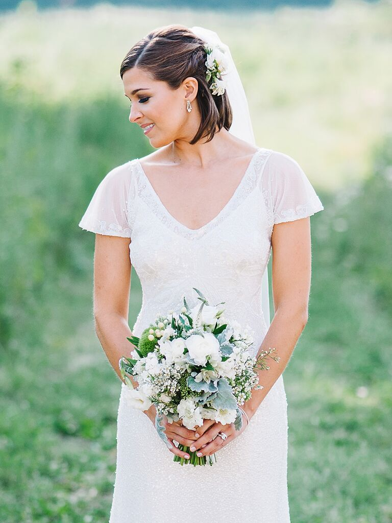 15 Beautiful Veiled Short Wedding Hairstyles