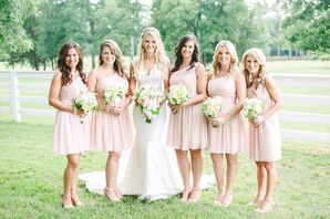 Short Blush Mori Lee Bridesmaid Dresses