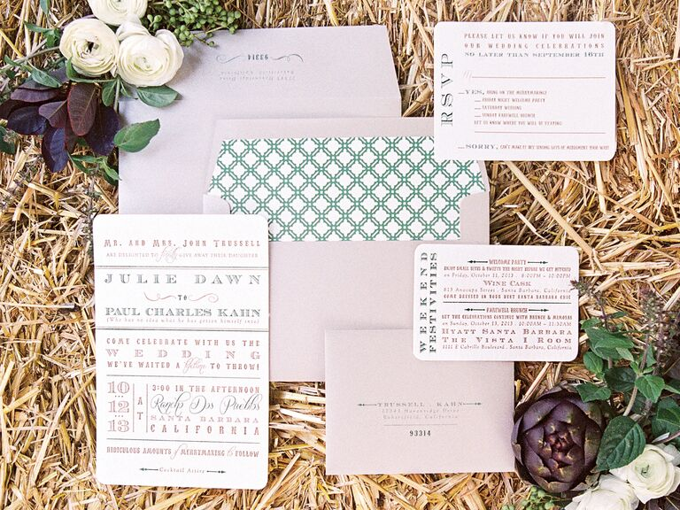 Copper Willow Paper Studio wedding stationery